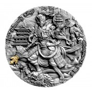 Niue Island DUOWENTIAN series FOUR HEAVENLY KINGS Silver Coin $5 Antique finish 2020 Ultra High Relief Gold plated 2 oz